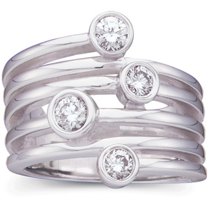 5/8 CT TW 14kt  White Gold Right Hand Diamond Ring
