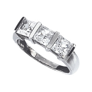 Sterling Silver 3.3 ct tw Cubic Zirconia Ring