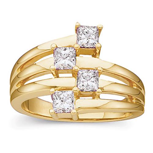 7/8 CT TW Diamond Right Hand Ring