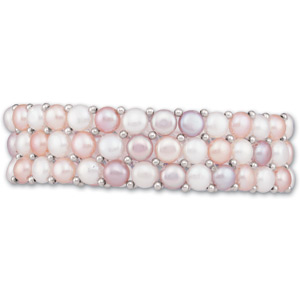 Sterling Silver Multi-colored Freshwater Cultured Pearl Bracelet