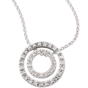 1/4 CT Diamond Circle Pendant