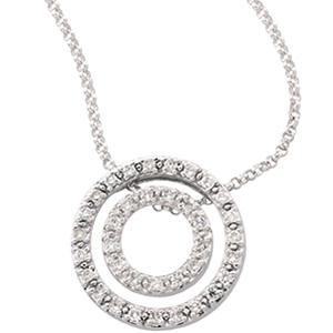 1/4 CT Diamond Circle Pendant