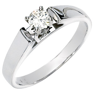 1/4 CT TW Moissanite Solitaire Ring