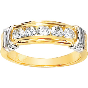 1/2 CT TW Moissanite Anniversary Ring