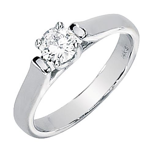 14kt White Gold 1/2 ct Forever Classic Moissanite Ring