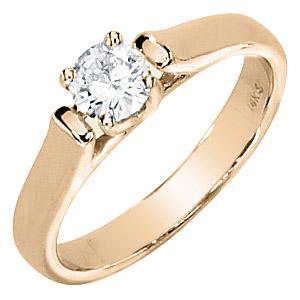 1/2 CT TW Moissanite Ring