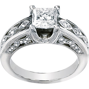 3/4 CT TW Moissanite Ring