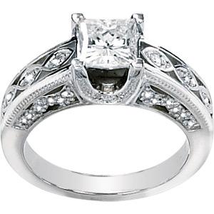 3/4 CT TW Moissanite Ring