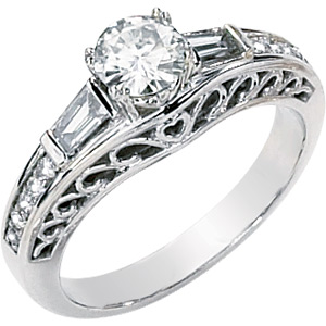 5/8 CT TW Moissanite Charlotte Ring
