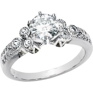 14kt White Gold 1 ct Forever Classic Moissanite Clara Ring