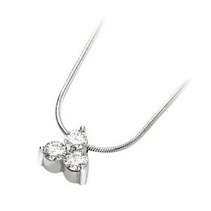 3/4 CT TW Moissanite 3-Stone Necklace