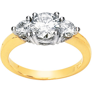 1.5 CT TW Moissanite 3-Stone Ring