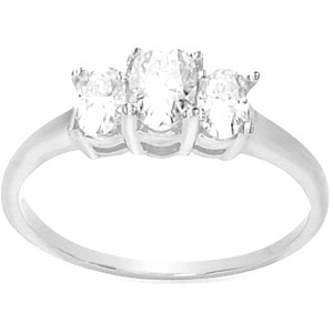 2 CT TW Moissanite 3-Stone Ring