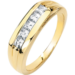 9/10 CT TW Moissanite Men's Ring