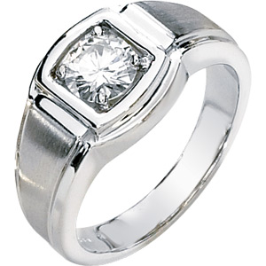 1 CT TW Moissanite Men's Ring