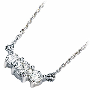 1/2 CT TW Moissanite Necklace