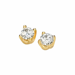 14kt Yellow Gold 1/2 CT TW Moissanite Solstice Earrings