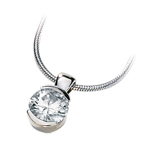 1/2 CT TW Moissanite Pendant