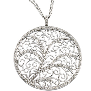 3/4 CT Diamond Circle Necklace