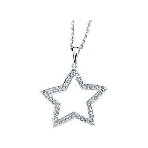 Cubic Zirconia 18in Necklace