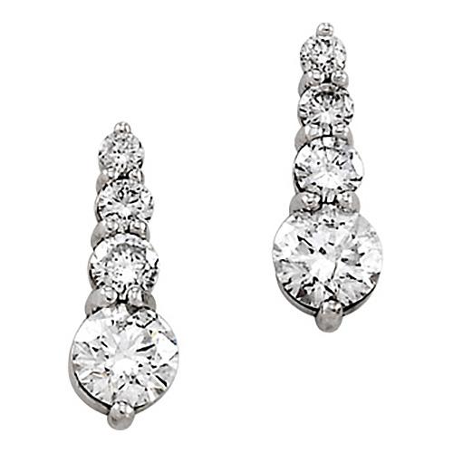 7/8 CT TW Journey Diamond Earrings