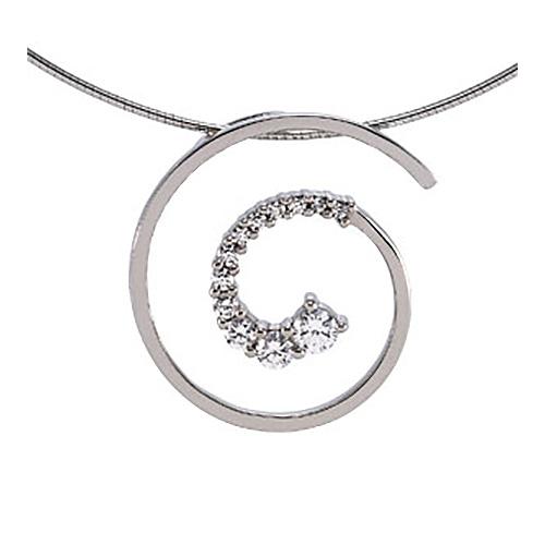 1/2 CT TW Journey Diamond Pendant