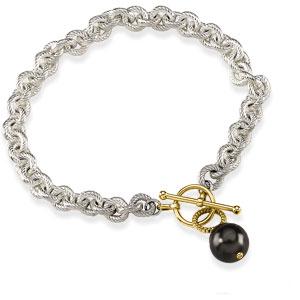 10mm Tahitian Cultured Pearl Toggle Bracelet