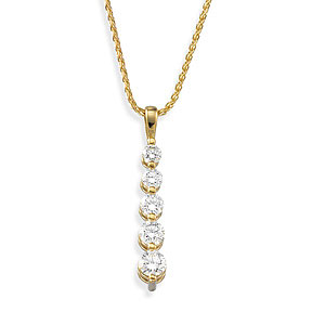 1 CT TW Journey Diamond Pendant