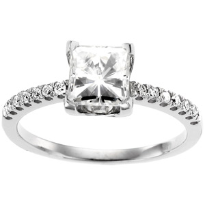 14kt White Gold 1 1/2 CT TW Moissanite Grace Ring