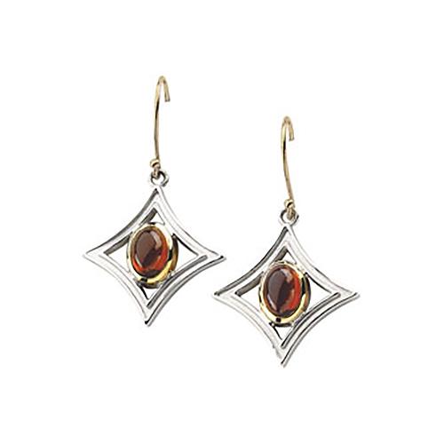 7x5mm Mozambique Garnet Earrings