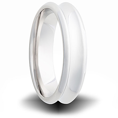 Cobalt 6mm Concave Ring