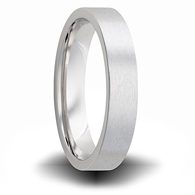 Cobalt 6mm Pipe Cut Ring Brushed Finish