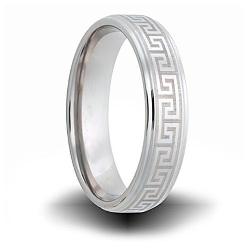 Greek Pattern Cobalt 6mm Step Down Edge Ring