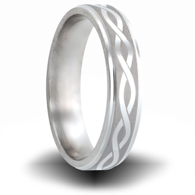 Helix Pattern Titanium 6mm Step Down Edge Ring