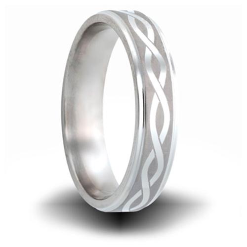 Helix Pattern Titanium 6mm Step Down Edge Ring