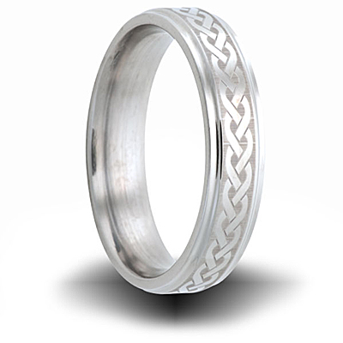 Weave Pattern Titanium 6mm Step Down Edge Ring
