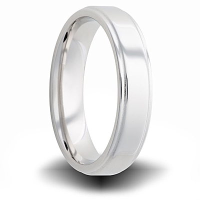 Cobalt 6mm Pipe Cut Ring with Beveled Edges
