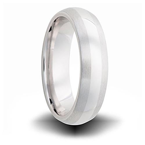 Cobalt 6mm Domed Dual Finish Wedding Band