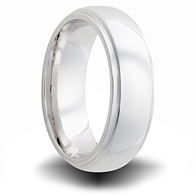 Cobalt 6mm Polished Band with Step Down Edges
