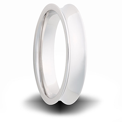 Cobalt 6mm Polished Concave Band