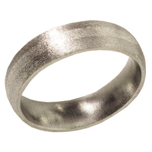 6mm Titanium Band Stone Finish with Platinum Inlay