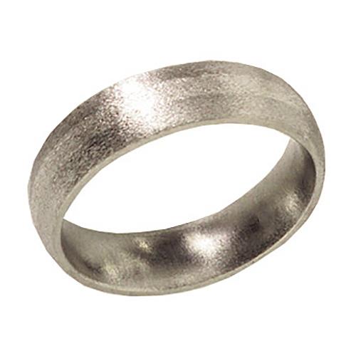 6mm Titanium Band Stone Finish with Platinum Inlay