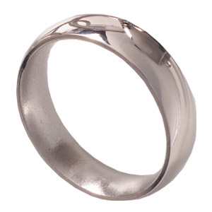 6mm Titanium Band Domed