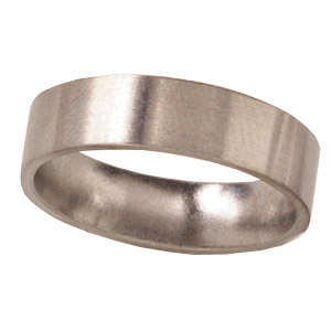 6mm Titanium Band Satin Finish