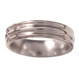 6mm Titanium Band Domed Center