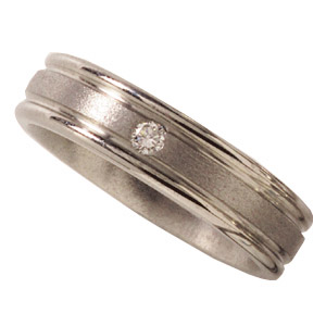 6mm Titanium Band with Diamonds