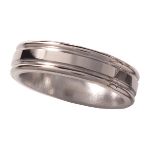6mm Titanium Band Flat Center with Rounded Edges