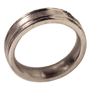 6mm Titanium Band Stone Finish Rounded Edges