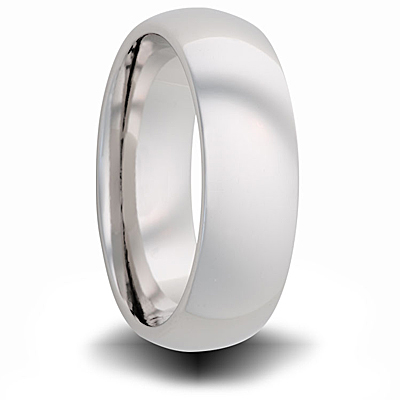 Titanium 6mm Domed Ring