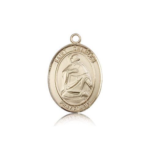 14kt Yellow Gold 1in St Charles Medal